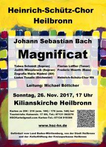 Konzert-Flyer Magnificat 2017