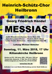 Konzert-Flyer Messias 2018