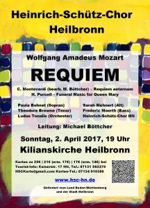 Konzert-Flyer Requiem 2017