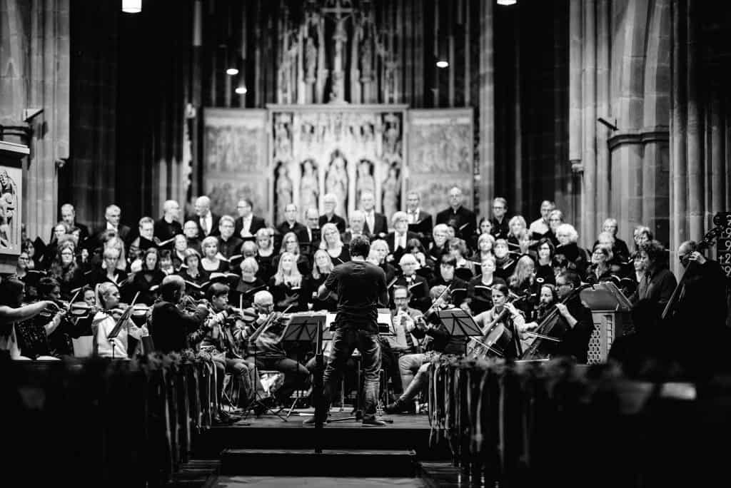 Dirigent, Sängerinnen- und Sänger bei der Chor-Prove