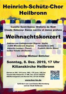 Konzert-Flyer Weihnachtskonzert 2019